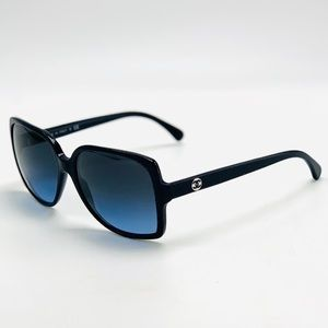 New! CHANEL 5267 Blue/Black Sunglasses